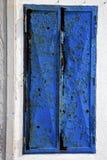 abstrakt blått fönster i det vita Spanienet Royaltyfria Bilder