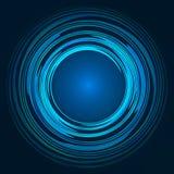 Abstrakt blått-, gräsplan- och gulingvirvelcirkel Arkivfoton