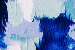 Abstrakt blått-, grå färg- och vitmålningbakgrund Arkivfoton