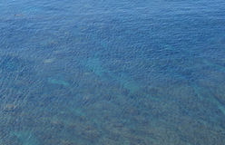 abstrakt blått klart hav Royaltyfri Foto
