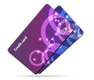 abstrakt blått kortkrediteringsfoto Royaltyfri Fotografi