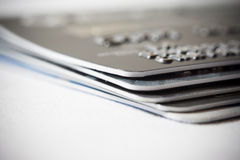 abstrakt blått kortkrediteringsfoto Royaltyfria Foton
