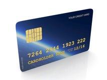 abstrakt blått kortkrediteringsfoto Arkivbild