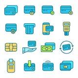 abstrakt blått kortkrediteringsfoto Arkivfoton