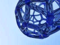 abstrakt blått nätverk stock illustrationer