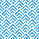 Abstrakt blått- och vitvinkelmodell, vektor Arkivbild