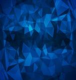 Abstrakt blått polygonal Royaltyfri Fotografi