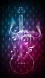 Abstrakt blått rött musikinstrument Royaltyfri Foto