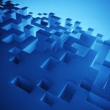 abstrakt begrepp 3D skära i tärningar bakgrund Royaltyfri Bild
