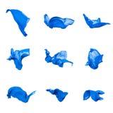 Abstrakt blått tyg i rörelse Arkivbild