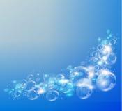 Abstrakt blåttbakgrund Lufta bubblar vektor Arkivfoto
