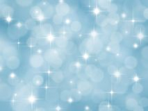 Abstrakt blåttbakgrund med boke och stjärnor royaltyfri illustrationer
