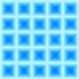 Abstrakt blåttfyrkantmodell, vektor Royaltyfri Bild