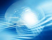 Abstrakt blåttglöd vektor illustrationer