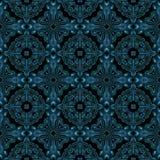 Abstrakt blåttmetall som modellen för tyg gjorde sömlöst Vektor Illustrationer