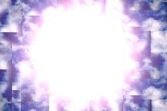 Abstrakt blåttSkybakgrund Arkivbild