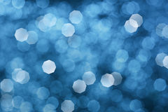 Abstrakt blå julbakgrund Royaltyfri Fotografi