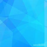 Abstrakt blå polygonal bakgrund med halvton Royaltyfria Bilder