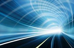 abstrakt blå suddighet rörelsehastighet Fotografering för Bildbyråer