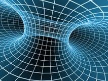 abstrakt blå tunnel för raster 3d Arkivbilder