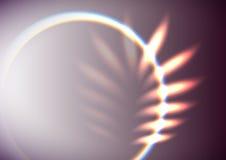 Abstrakt blad formad signalljus Arkivbild