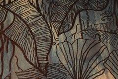 Abstrakt bladArt Graphic Random Pattern Style garnering på Retro bakgrund royaltyfri illustrationer