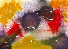 Abstrakt blanda - akrylmålning royaltyfri foto