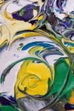 abstrakt blandad målarfärg Arkivfoton