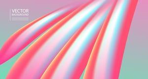 Abstrakt blandning 3D av färger och linjer Arkivfoto