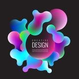 Abstrakt blandning 3D av färger och linjer Royaltyfria Bilder
