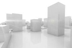 Abstrakt blokuje miasto Obraz Royalty Free