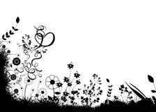 abstrakt blom- stock illustrationer