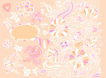 Abstrakt blom- bakgrund Stock Illustrationer