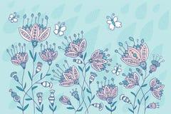 Abstrakt blom- bakgrund Royaltyfri Illustrationer