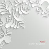 Abstrakt blom- bakgrund 3d Royaltyfri Foto