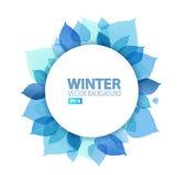 Abstrakt blom- bakgrund för höst/för vinter vektor illustrationer