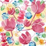 Abstrakt blom- bakgrund för vattenfärg Arkivfoto