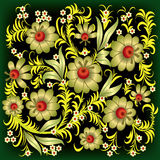 abstrakt blom- blommaguldprydnad Royaltyfria Foton