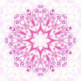 Abstrakt blom- dekorativ bakgrund Prydnad i östlig stil också vektor för coreldrawillustration Arkivbild