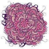Abstrakt blom- dekorativ klotterbakgrund Royaltyfri Fotografi