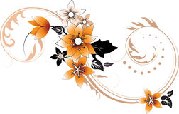 abstrakt blom- designelement vektor illustrationer