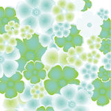 abstrakt blom- designelement stock illustrationer