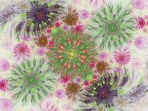 Abstrakt blom- fractalbakgrund f?r konstprojekt royaltyfri illustrationer