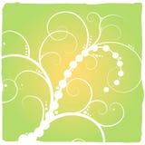 abstrakt blom- green royaltyfri illustrationer