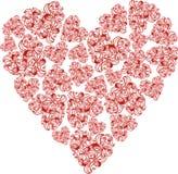 Abstrakt blom- hjärta Royaltyfri Foto