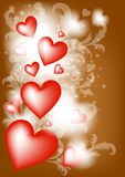 abstrakt blom- hjärtaillustrationvektor Vektor Illustrationer