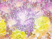 Abstrakt blom- illustration Arkivfoto