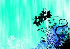 abstrakt blom- illustration stock illustrationer