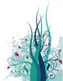 abstrakt blom- illustration Arkivbild