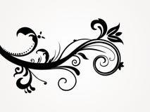 abstrakt blom- illustrationsilhouette Royaltyfri Foto